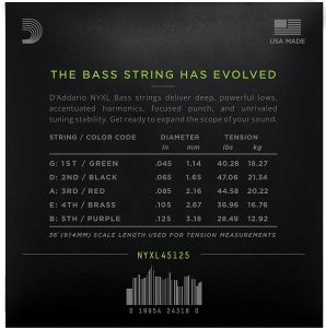 D'Addario NYXL45125 Nickel Wound Bass Guitar Strings