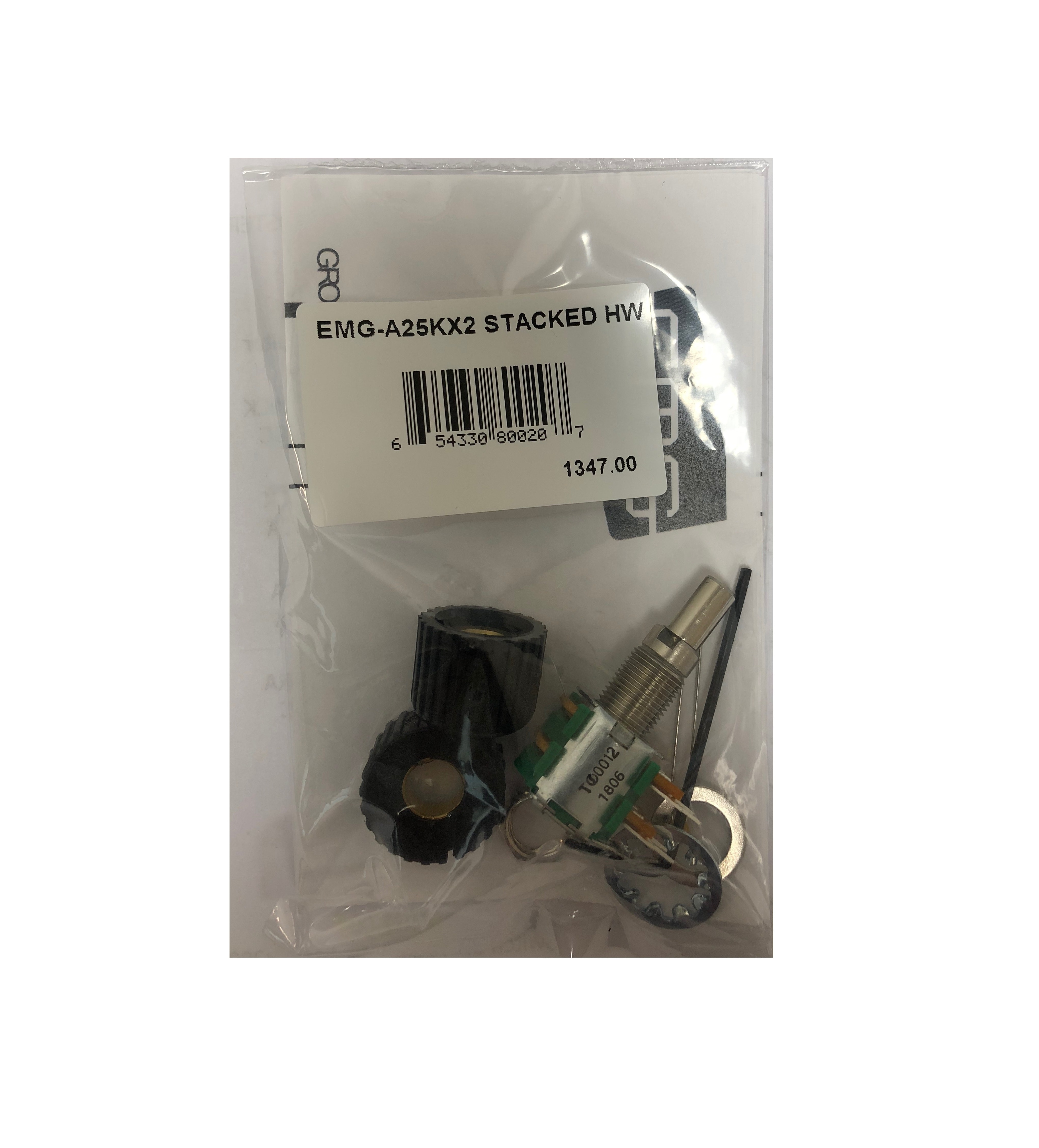 EMG A25KX2 Stacked Volume Potentiometer - 1347