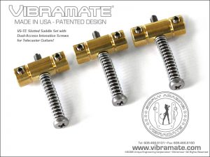 Vibramate V5-TE-BSB Dual Access Brass Saddle - Brass