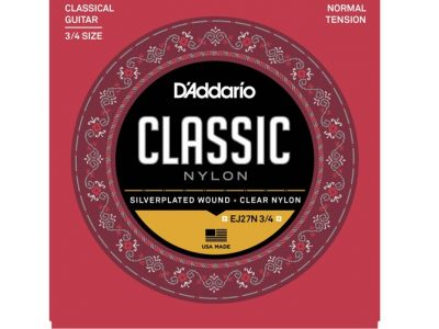 D'Addario EJ27N 3/4 Silverplated Wound Clear Nylon Classical Guitar Strings