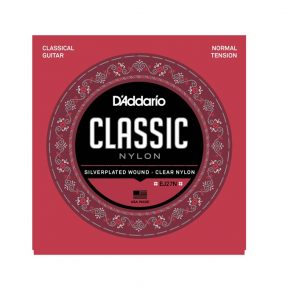 D'Addario EJ27N Silverplated Wound Clear Nylon Classical Guitar Strings