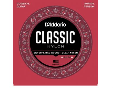 D'Addario EJ27N Silverplated Wound Clear Nylon Classical Guitar Strings