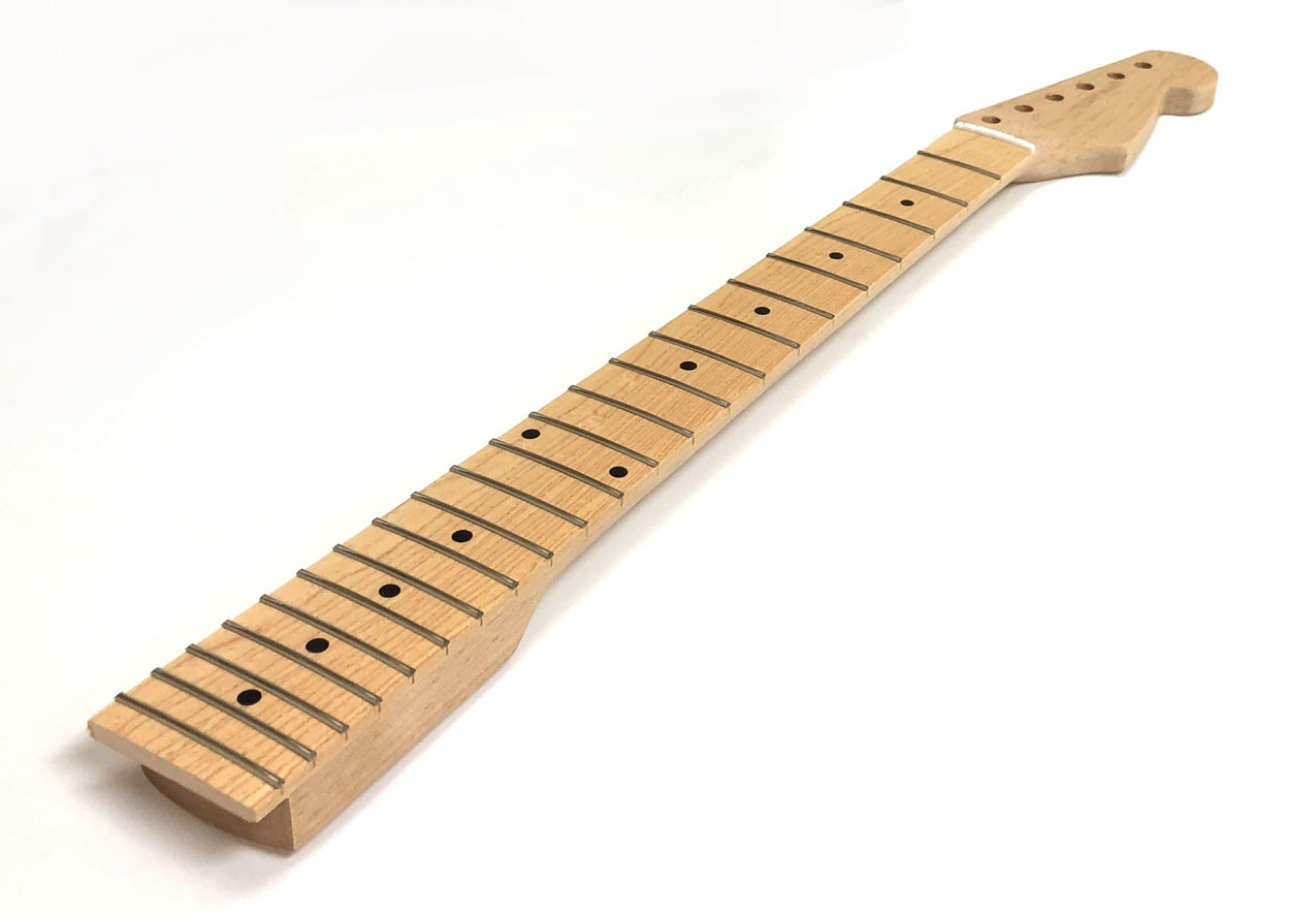 solo st style 22 fret guitar neck with maple fretboard solo music gear. Black Bedroom Furniture Sets. Home Design Ideas