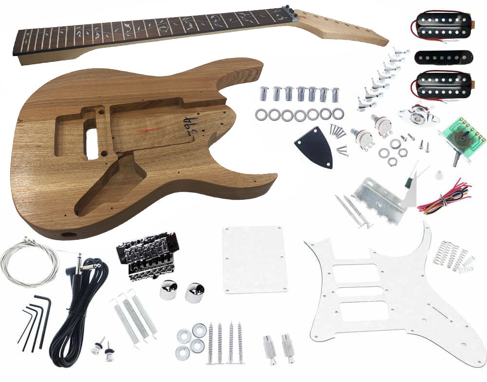 solo jek 7 diy 7 string electric guitar kit with vine inlay \u0026 floydsolo jek 7 diy 7 string electric guitar kit with vine inlay \u0026 floyd rose solo music gear