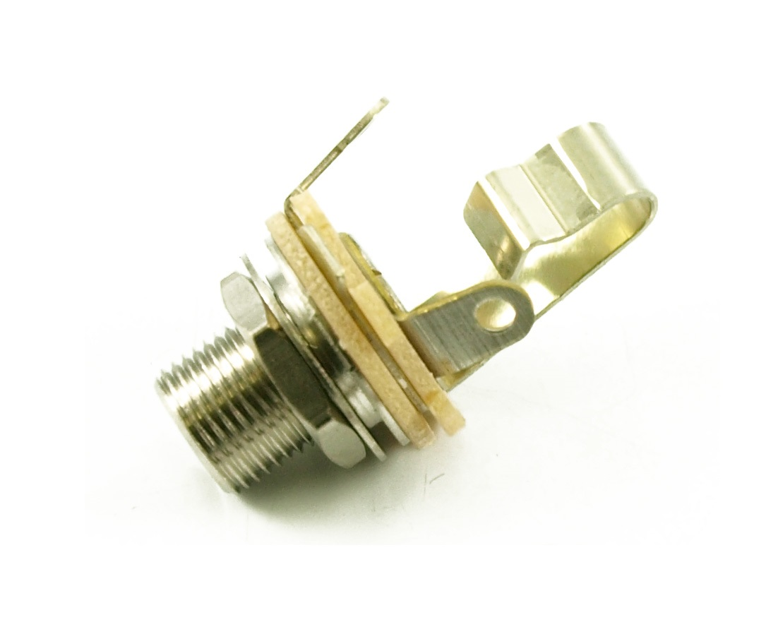 """Jack Tube Switchcraft US Mono//stereo Fem.1//4/"""" Acoustic Guitar End pin Ni EP4161"""