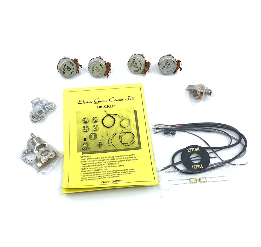 les paul output jack wiring hosco hk cklp les paul style wiring kit solo guitars  hosco hk cklp les paul style wiring kit