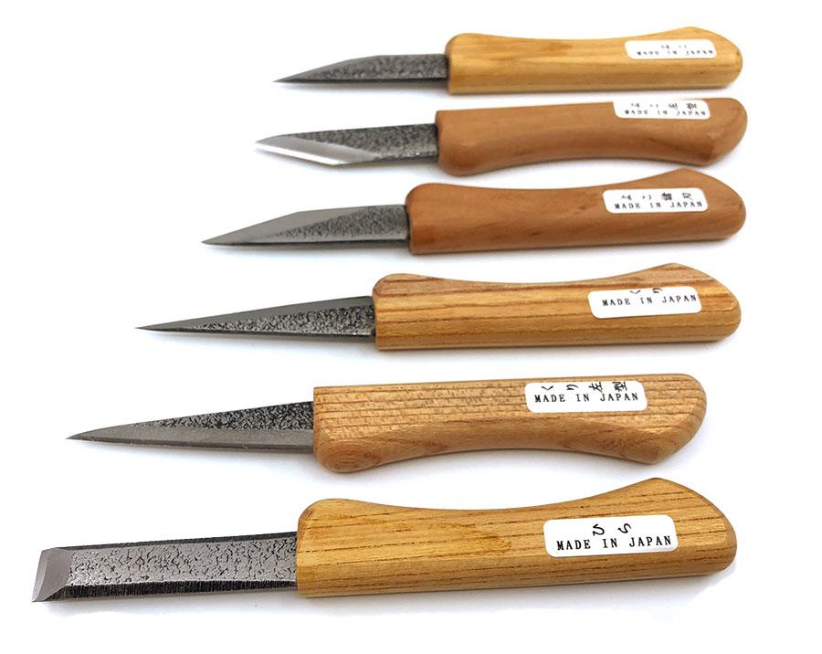 hosco tl i6s kogatana carving knife set of 6