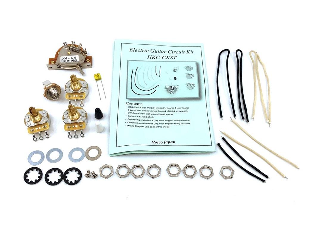 Hosco Hkc Ckst Pro St Style Wiring Kit Solo Music Gear Switchcraft Input Jack Diagram
