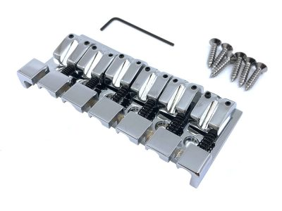Solo Pro Chrome 6 String Heavy Bass Bridge