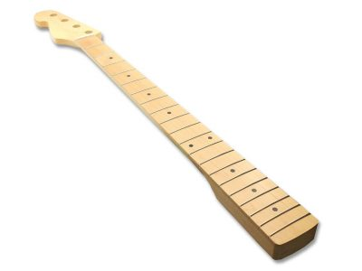 Solo PB Style Left Handed Maple Bass Neck With Maple Fretboard