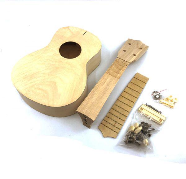 Soprano Ukulele DIY Kit, Basswood Body