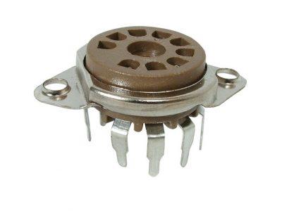 9-Pin PCB Mount Tube Socket Set Of 2