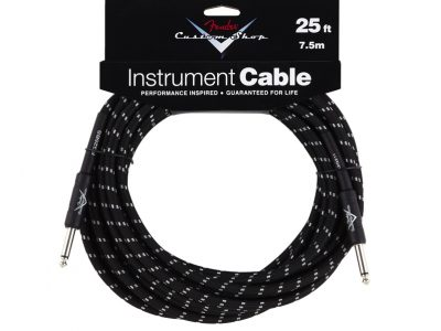 Custom Shop Cable, 25', Black Tweed