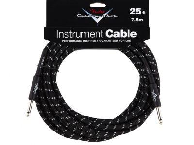 Custom Shop Cable, 25', Black Tweed