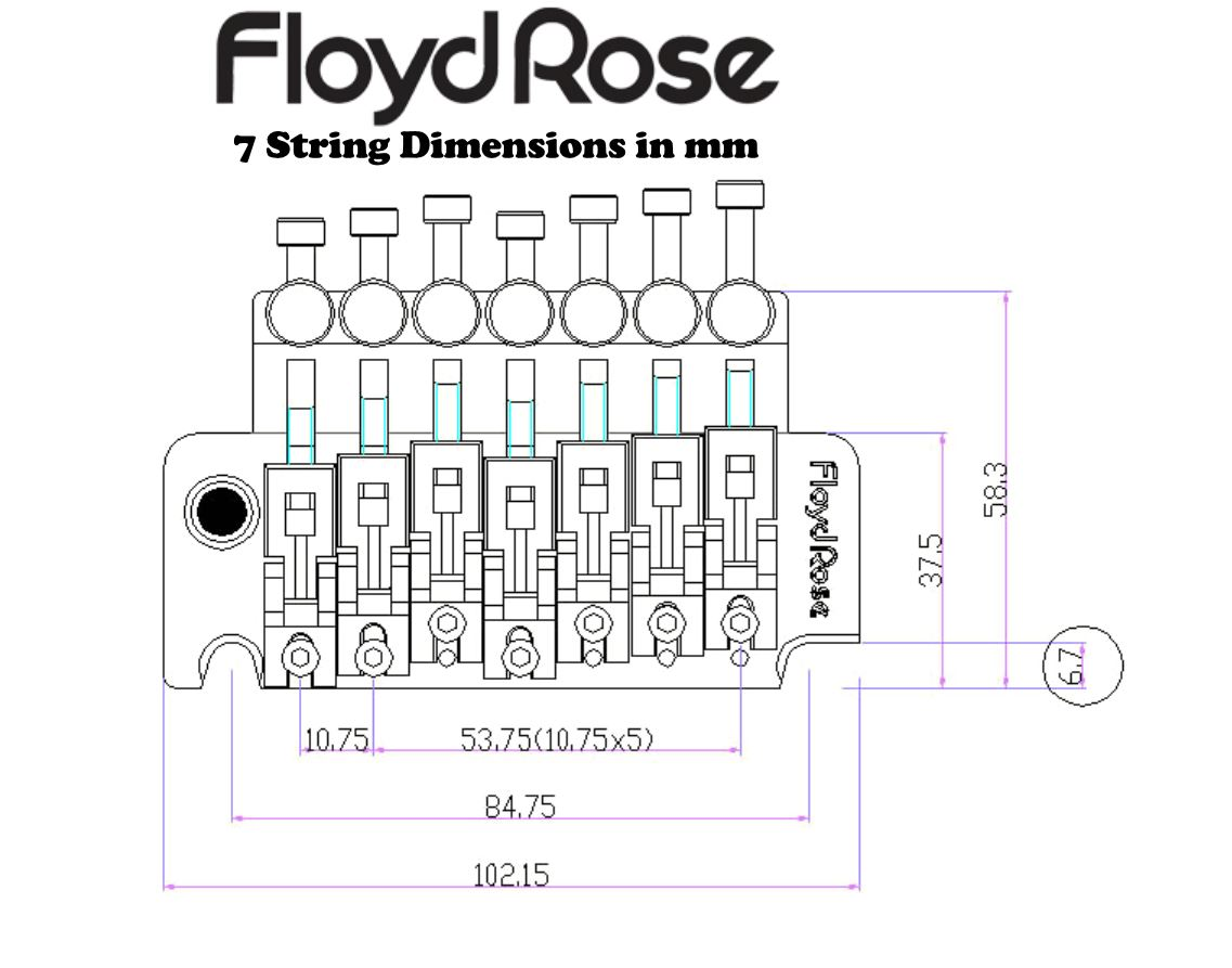 floyd rose frts100 7 string tremolo kit