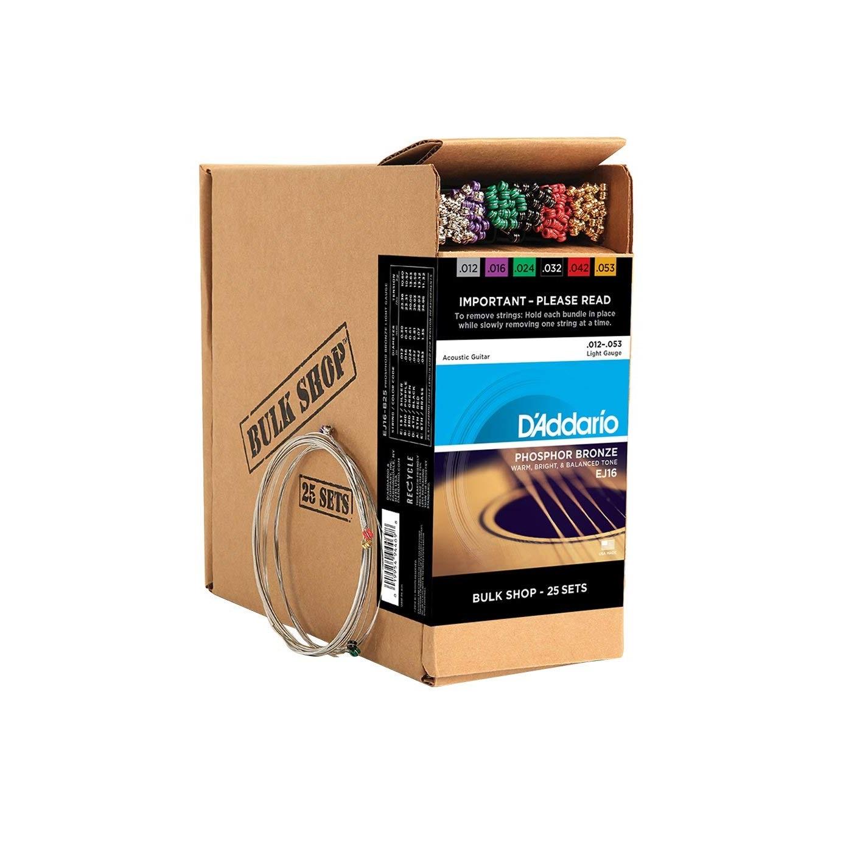 d 39 addario ej16 b25 phosphor bronze acoustic guitar strings 12 53 bulk pack solo music gear. Black Bedroom Furniture Sets. Home Design Ideas