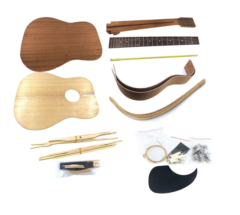 Hosco Dreadnought Unassembled Diy Acoustic Guitar Kit