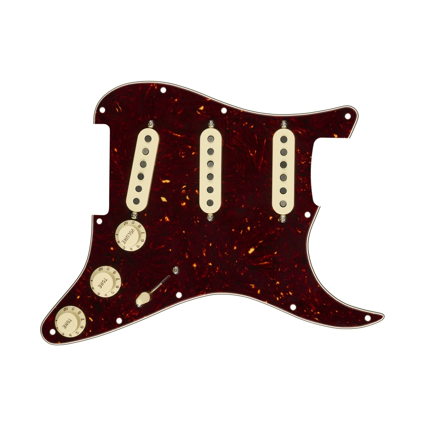 fender pre wired strat pickguard custom shop custom 39 69 sss 11 hole tortoise solo guitars. Black Bedroom Furniture Sets. Home Design Ideas