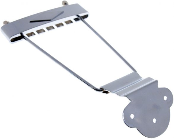 Solo Pro 335 Style Archtop Guitar Tailpiece in Chrome