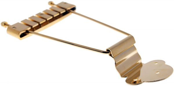 Solo Pro 335 Style Archtop Guitar Tailpiece in Gold