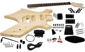 Solo BC Style DIY Guitar Kit, Basswood Body, Maple Neck, Floyd Rose