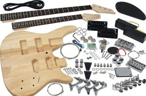 Solo Guitar & Bass DIY Kit, Double Neck, Basswood Body