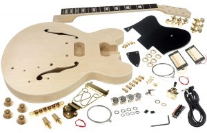 Solo ES Style DIY Guitar Kit, Maple Body