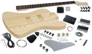 Solo FB Style DIY Bass Guitar Kit, Basswood Body, Maple Neck Rosewood FB