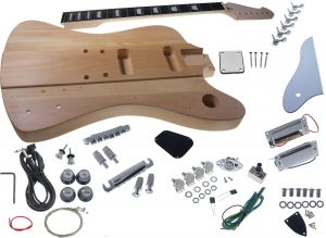 Solo FB Style DIY Guitar Kit, Basswood Body, Maple Neck Rosewood FB