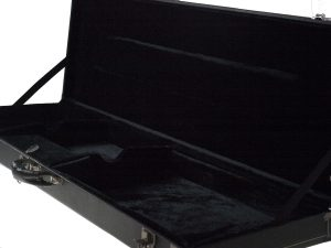 Solo PJ Style Hardshell Electric Bass Case, Black