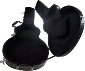 Solo LP Style Hardshell Electric Guitar Case, Black Skulls