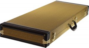Solo Large Hardshell Electric Guitar Case, Tweed Style