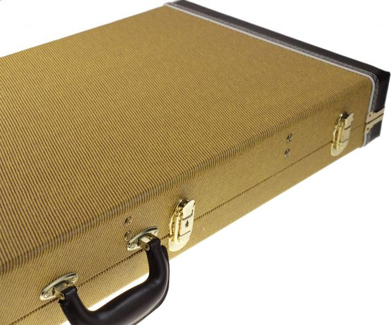 Solo Large Hardshell Electric Guitar Case, Tweed Style