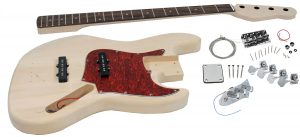 Solo JB Style DIY Bass Guitar Kit, Basswood Body, Maple Neck Rosewood FB