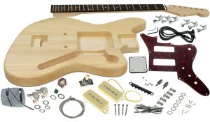Solo JM Style DIY Guitar Kit, Basswood Body, Maple Neck