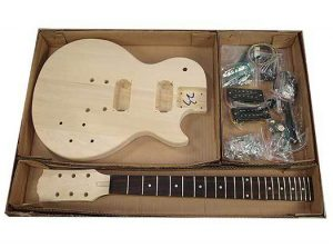 Solo LP Jr Style DIY Guitar Kit, Basswood Body, Maple Neck