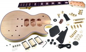 Solo LP Style DIY Guitar Kit, Carved Body with 3 Pickups