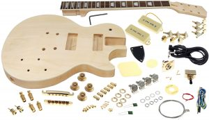 Solo LP Style Guitar Kit, Carved Body, Set Neck