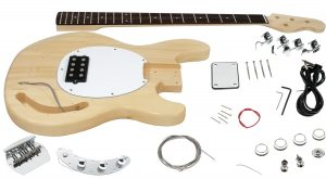 Solo MM Style DIY Bass Guitar Kit, Basswood Body, Maple Neck Rosewood FB