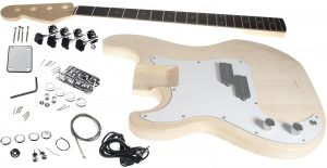 Solo PB Style DIY Bass Guitar Kit, Basswood Body, Left Handed