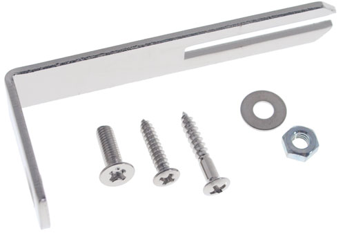 Solo Pro Archtop Pickguard Bracket with Screws, Chrome