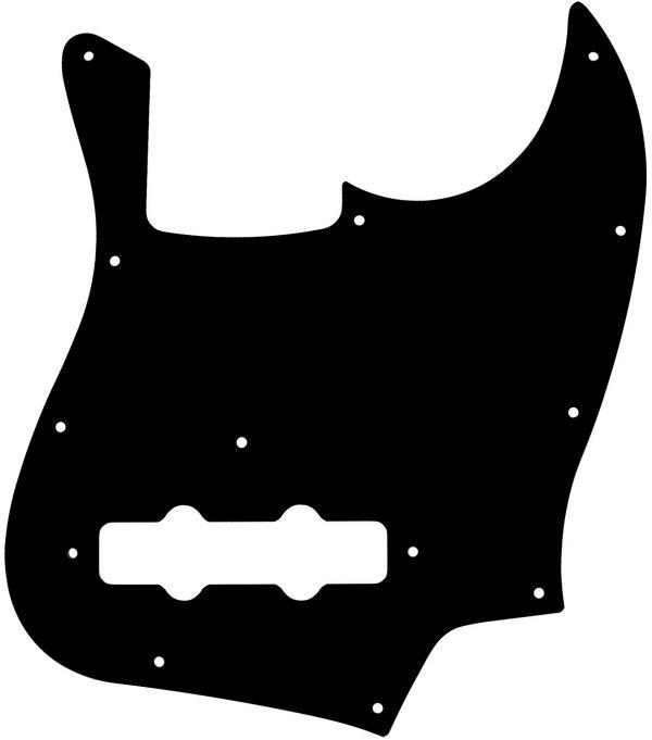 Solo Pro J Bass 1-Ply Pickguard, 11 Holes, Black