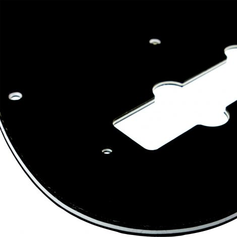 Solo Pro J Bass 3-Ply Pickguard, 11 Holes, Black