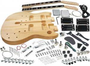 Solo SG Style DIY Guitar Kit, Double Neck Basswood Body