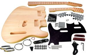 Solo Tele & Mandolin DIY Guitar Kit, Double Neck, Basswood Body, Maple FB