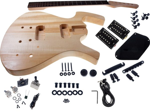 Solo FY Style DIY Guitar Kit, Basswood Body, Black Hdware