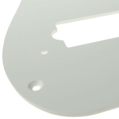 Solo Pro P Bass 1-Ply Pickguard, 13 Holes White
