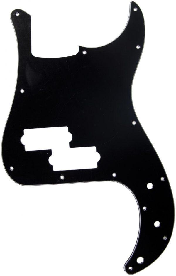 Solo Pro P Bass 3-Ply Pickguard, 13 Holes Black