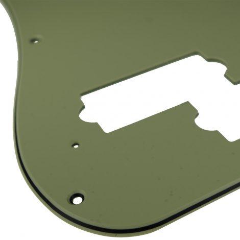 Solo Pro P Bass 3-Ply Pickguard, 13 Holes Mint Green