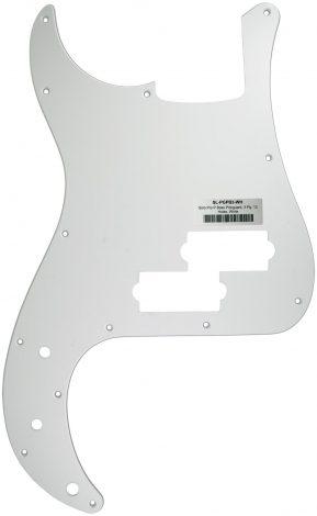 Solo Pro P Bass 3-Ply Pickguard, 13 Holes, White